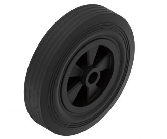 Solid rubber wheel - 405970.001 - Support wheels replacement parts